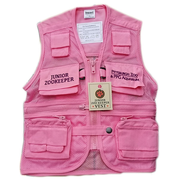 YOUTH ZOOKEEPER VEST PINK