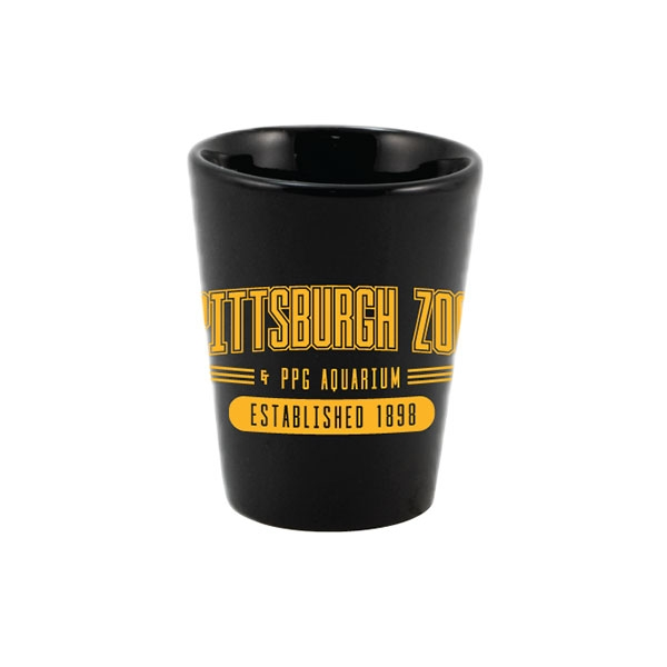 BLACK AND GOLD PENGUIN SHOT GLASS