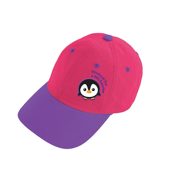 PINK TODDLER BASEBALL CAP PENGUIN