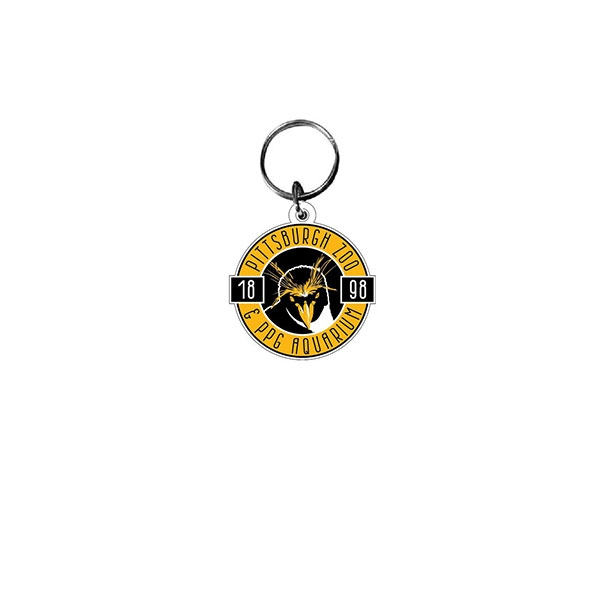 BLACK AND GOLD PENGUIN KEYCHAIN