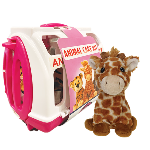 GIRAFFE ANIMAL CARE KIT PINK