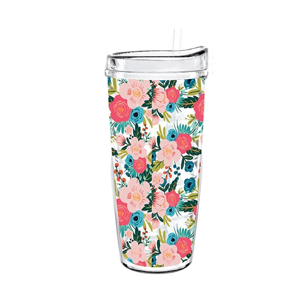 FLORAL TIGER DOUBLE WALL TUMBLER