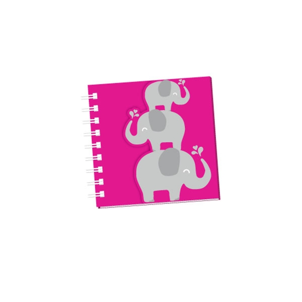 GLITTER ELEPHANT NOTEBOOK