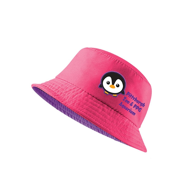 PINK TODDLER BUCKET HAT PENGUIN