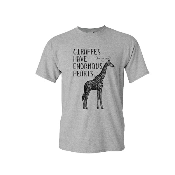 ADULT GIRAFFE FUN FACT TEE