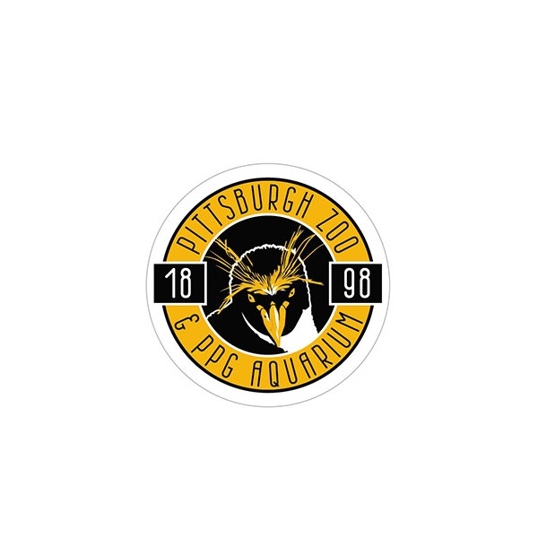 BLACK AND GOLD PENGUIN STICKER