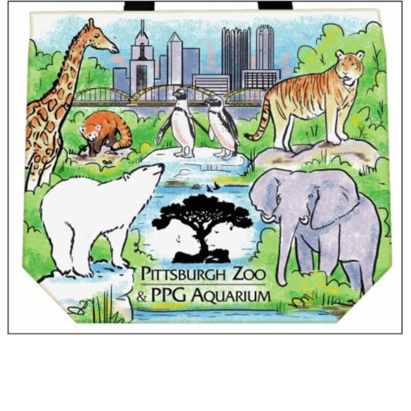 PITTSBURGH ZOO CANVAS TOTE