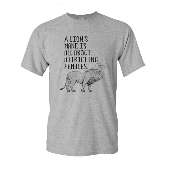 ADULT LION FUN FACT TEE